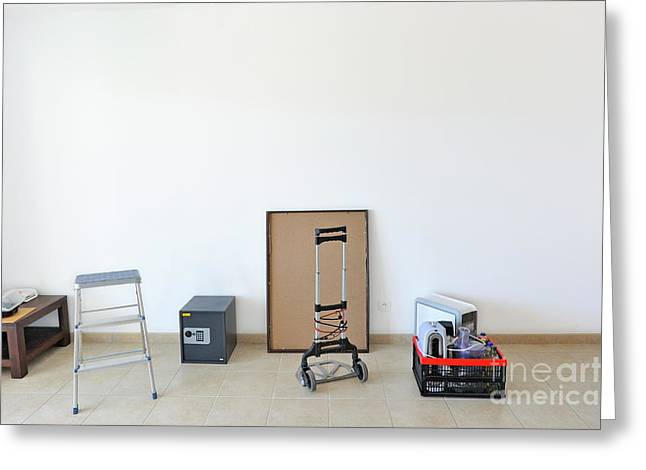 Step Ladder Greeting Cards - Moving house Greeting Card by Sami Sarkis