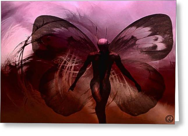 Black Man Digital Art Greeting Cards - Mr Butterfly Greeting Card by Gun Legler