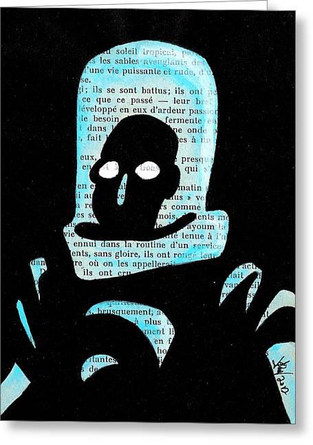 Batman Drawings Greeting Cards - Mr Freeze Greeting Card by Jera Sky