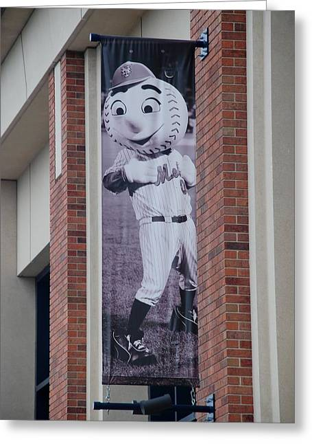 Shea Stadium Greeting Cards - Mr Met Greeting Card by Rob Hans