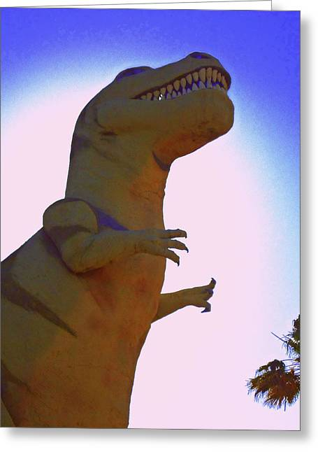 Tourist Trap Greeting Cards - Mr. Rex 1 Greeting Card by Randall Weidner