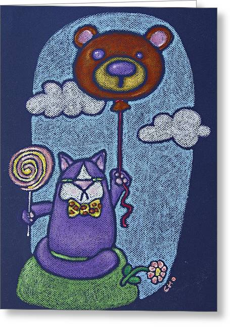 Balloon Flower Pastels Greeting Cards - Mr Wooger Greeting Card by wendy CHO