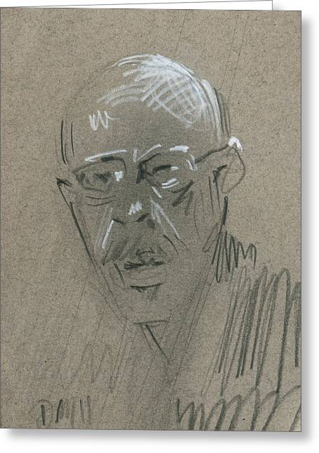 Graphite Greeting Cards - Mr.J Greeting Card by Donald Maier