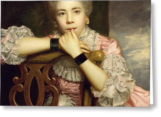 Mrs Abington as Miss Prue in Congreve's 'Love for Love'  Greeting Card by Sir Joshua Reynolds