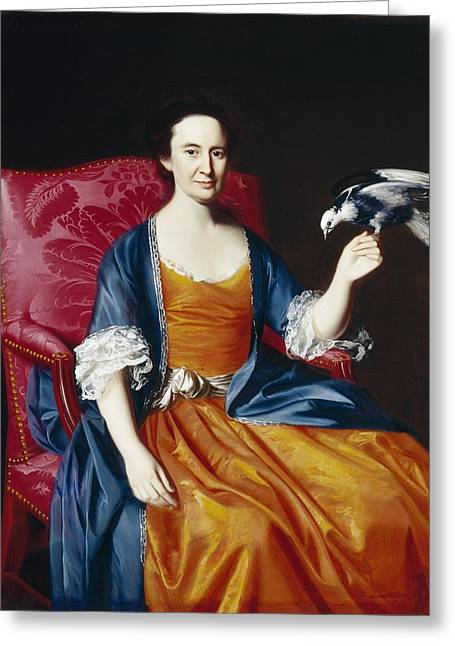 Singleton Greeting Cards - Mrs. Benjamin Hallowell Greeting Card by John Singleton Copley