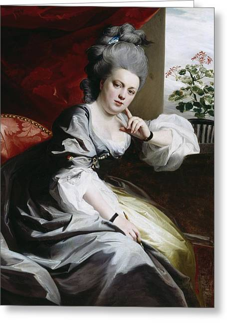Oil Portrait Photographs Greeting Cards - Mrs Clark Gayton Greeting Card by John Singleton Copley