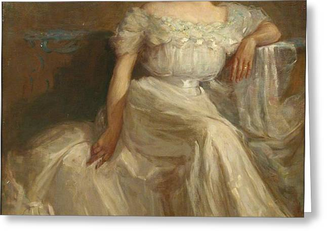 Mrs. Leslie Thayer Green Greeting Card by John Willard Clawson