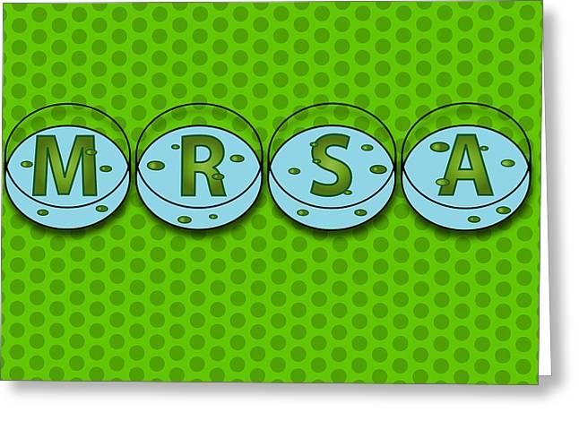 Public Health Greeting Cards - Mrsa Greeting Card by David Nicholls