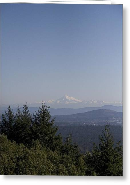 Baker Island Greeting Cards - Mt Baker Looms In The Distance As Seen Greeting Card by Taylor S. Kennedy