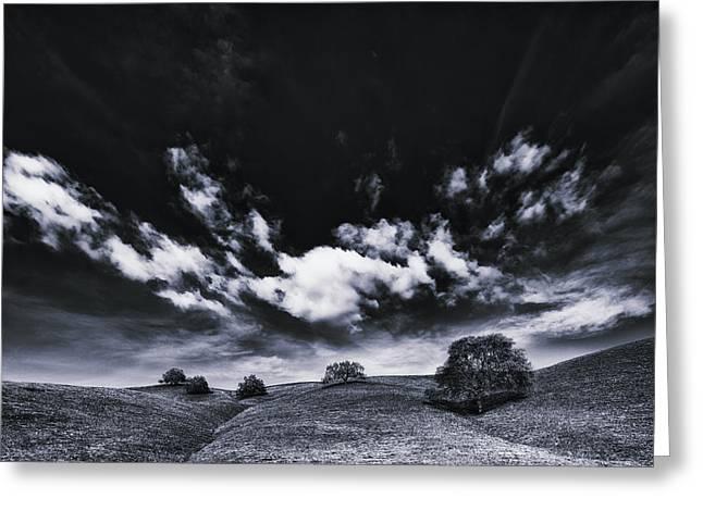 Walnut Tree Photograph Greeting Cards - Mt. Diablo under cloud attack. Greeting Card by Laszlo Rekasi