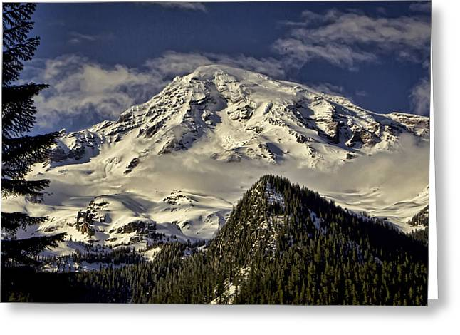 Pierce County Greeting Cards - Mt Rainier Greeting Card by Heather Applegate