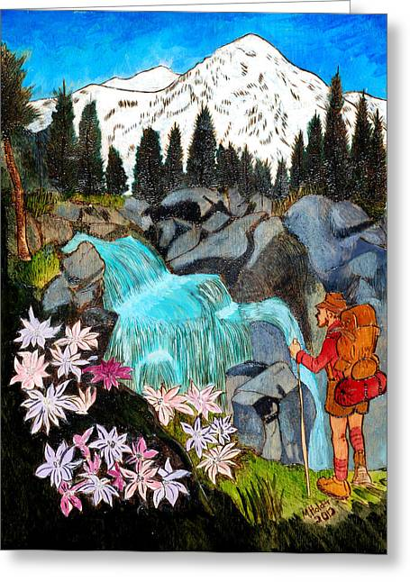 Mt Pyrography Greeting Cards - Mt. Rainier National Park Greeting Card by Mike Holder