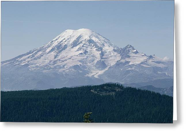 Mt. Rainier Seen From The Yakima Valley Greeting Card by Sisse Brimberg
