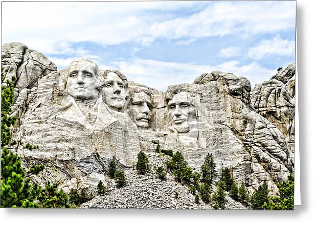 Rushmore Photographs Greeting Cards - Mt Rushmore Greeting Card by Jon Berghoff
