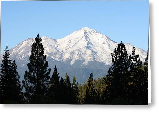 Mt. Shasta Greeting Cards - Mt. Shasta - Her Majesty Greeting Card by Holly Ethan