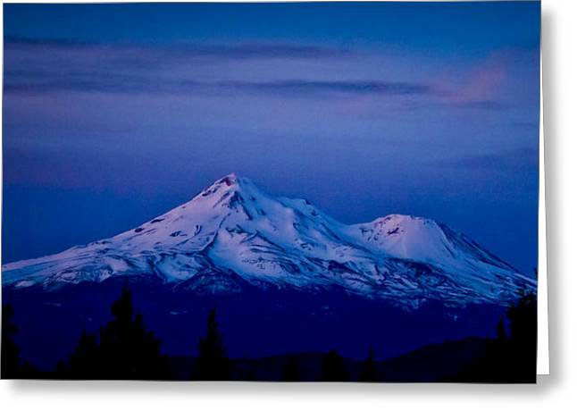 Mt. Shasta Greeting Cards - Mt Shasta at Sunrise Greeting Card by Albert Seger