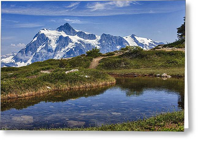 Mt Shuksan Greeting Card by A A