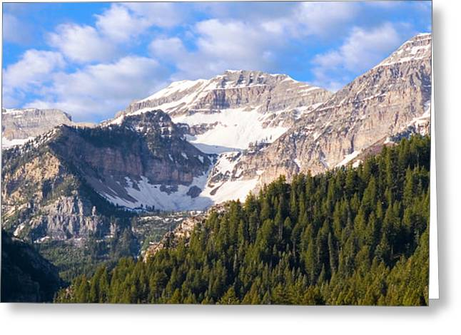 Snow Scenes Photographs Greeting Cards - Mt. Timpanogos in the Wasatch Mountains of Utah Greeting Card by Utah Images