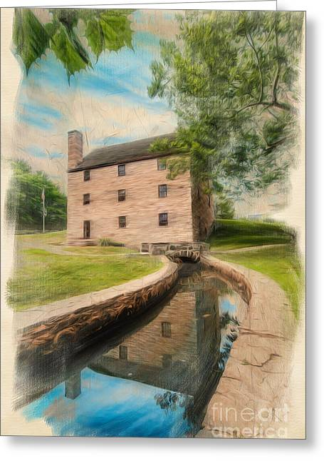 Mt. Vernon Gristmill Art Greeting Card by Jim Moore