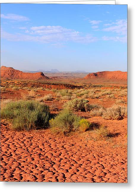 The Plateaus Greeting Cards - Mud Flats Valley of the Gods Utah Greeting Card by Troy Montemayor