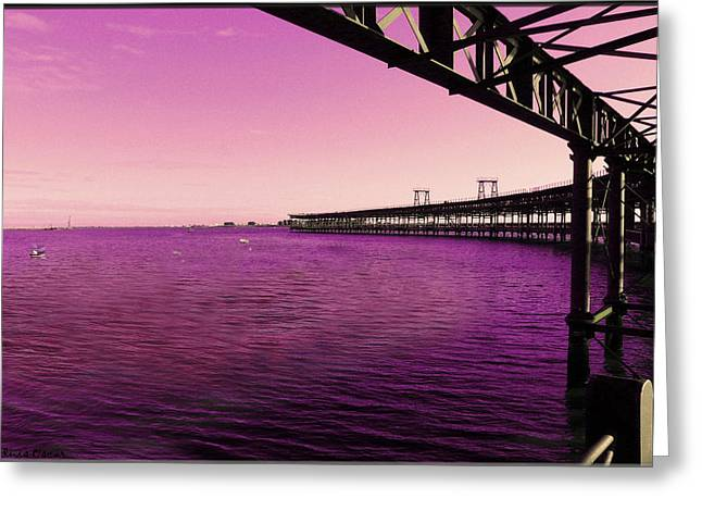 Luis Oscar Sanchez Greeting Cards - Muelle del Tinto Greeting Card by Luis oscar Sanchez