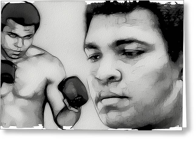 Tilly Art Greeting Cards - Muhammad Ali Greeting Card by Tilly Williams