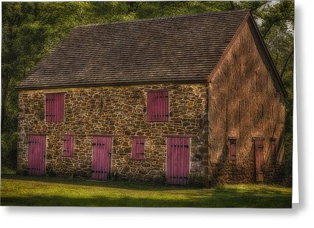Cattle-shed Greeting Cards - Mule Barn  Greeting Card by Susan Candelario
