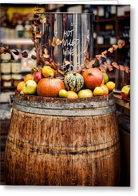 Great Wine Greeting Cards - Mulled Wine Greeting Card by Heather Applegate