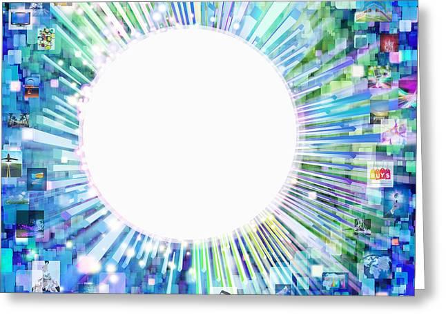 multimedia screen and graphic design Greeting Card by Setsiri Silapasuwanchai