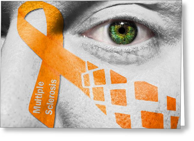 Multiple Sclerosis Greeting Cards - Multiple Sclerosis MS Greeting Card by Semmick Photo