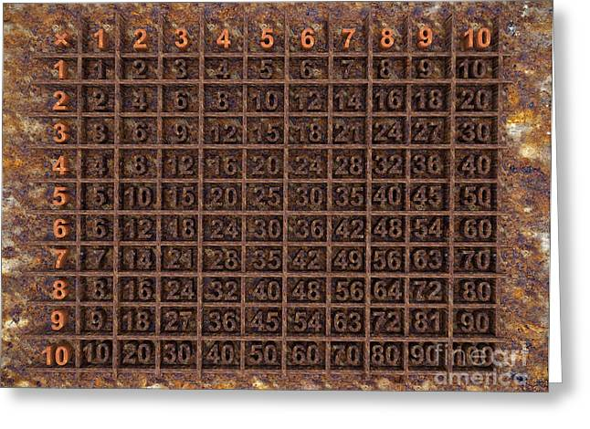 Multiplication Greeting Cards - Multiplication Table Greeting Card by Igor Kislev