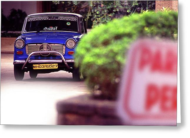 Forecourt Greeting Cards - Mumbai Taxi Greeting Card by Richard Piper