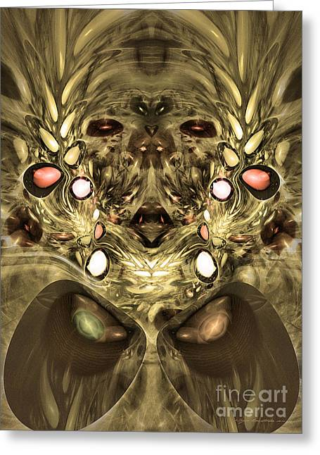 Mummy - Abstract Digital Art Greeting Card by Sipo Liimatainen