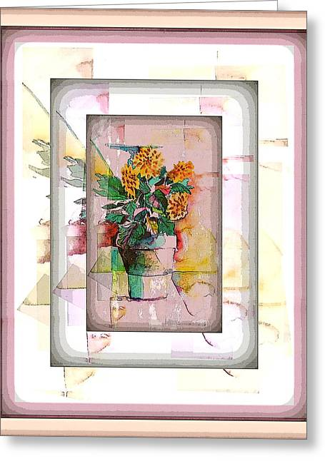 Floral Digital Art Greeting Cards - Mums Greeting Card by Mindy Newman