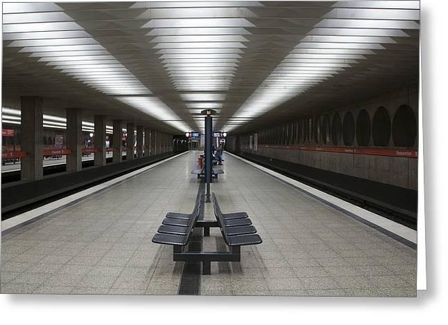Munich Subway No.1 Greeting Card by Wyn Blight-Clark