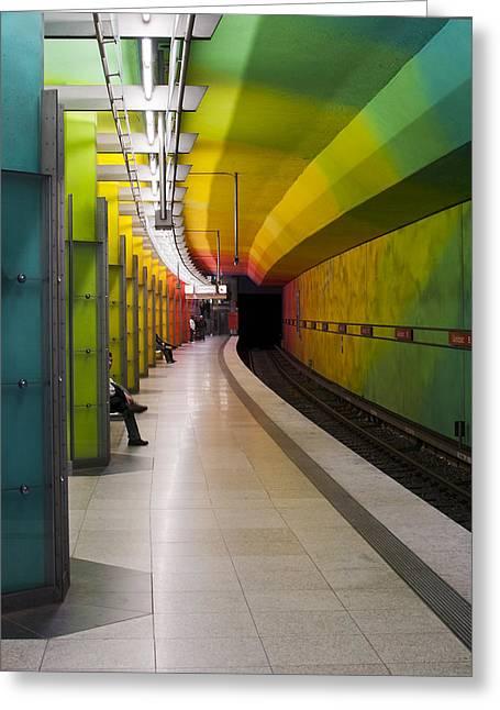 Munich Subway No.2 Greeting Card by Wyn Blight-Clark