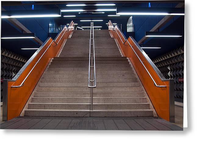 Munich Subway No.4 Greeting Card by Wyn Blight-Clark