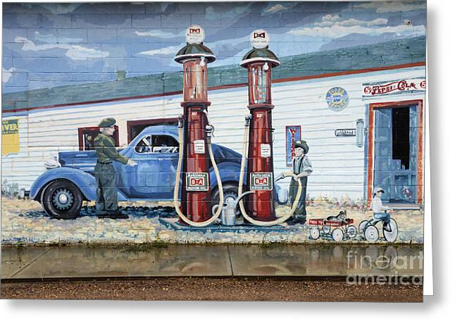 Mural Art At Consul Greeting Card by Bob Christopher