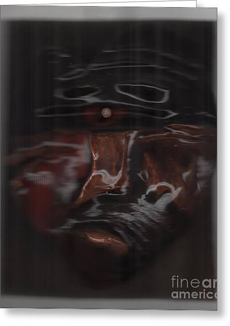 Brown Sculptures Greeting Cards - Murder by jrr Greeting Card by First Star Art