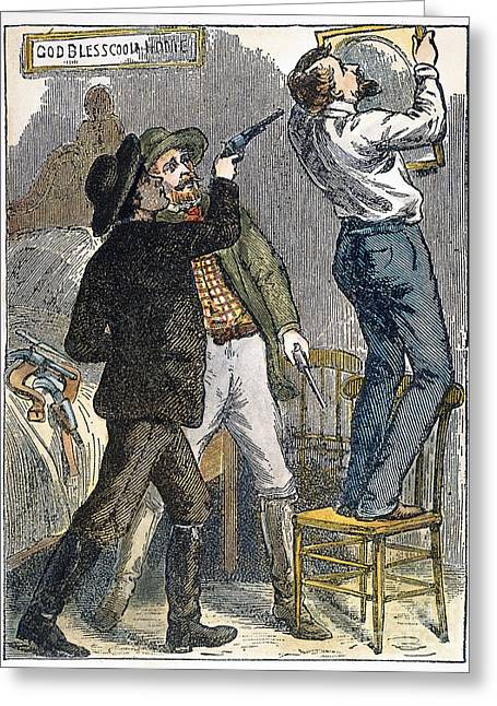 Saint Joseph Greeting Cards - Murder Of Jesse James, 1882 Greeting Card by Granger