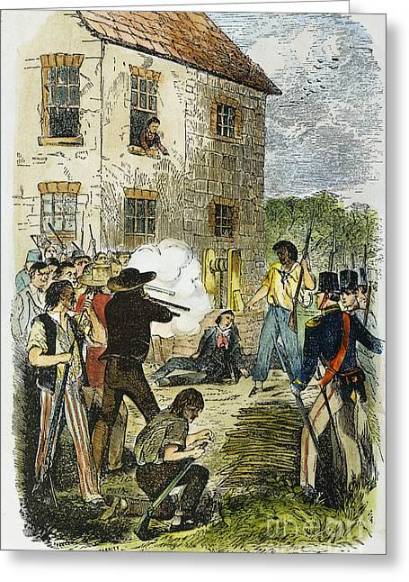 Murder Of Joseph Smith Greeting Card by Granger