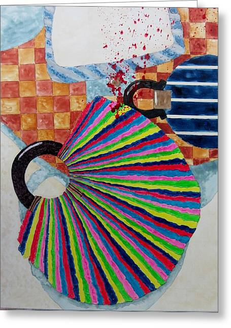 Abstract Purse Greeting Cards - Murder she wrote Greeting Card by David Raderstorf