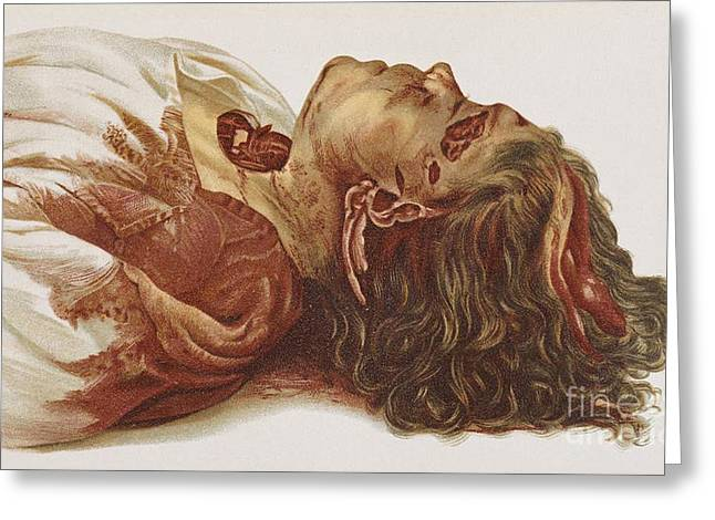 Law Enforcement Greeting Cards - Murder Victim 1898 Greeting Card by Science Source