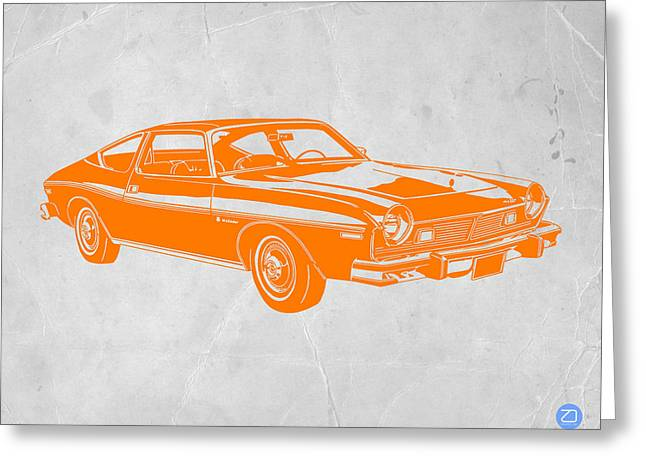 Kid Greeting Cards - Muscle car Greeting Card by Naxart Studio