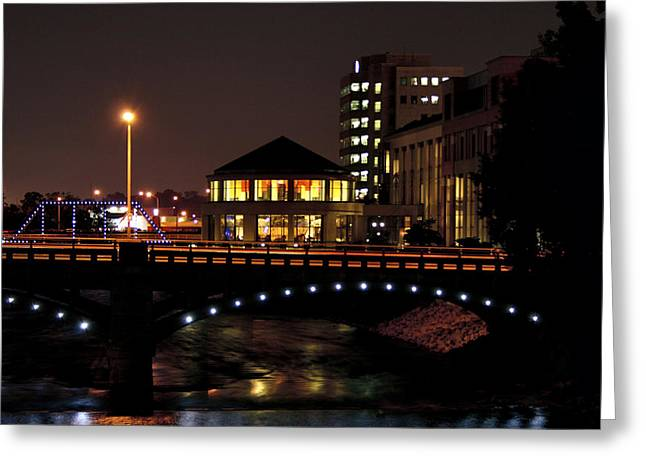 Mi Greeting Cards - Museum Lights Greeting Card by Richard Gregurich