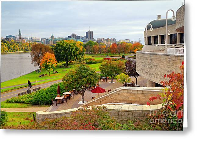 Gatineau Greeting Cards - Museum of Civilization Greeting Card by Charline Xia