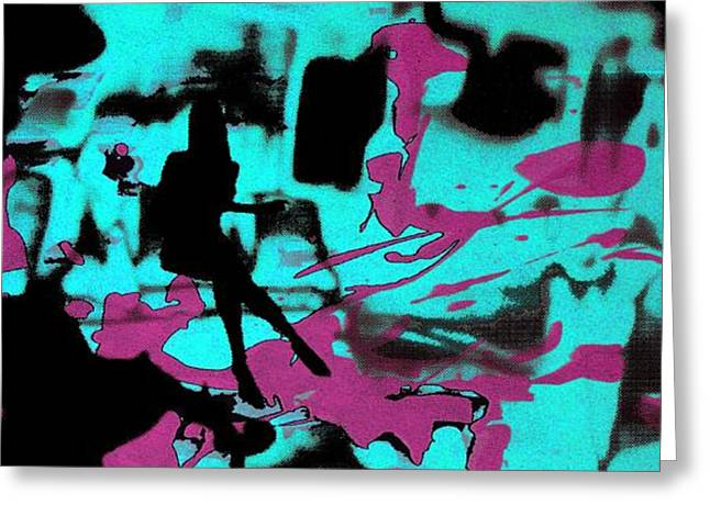 Serigraphy Greeting Cards - Music - Underground art Greeting Card by Arte Venezia