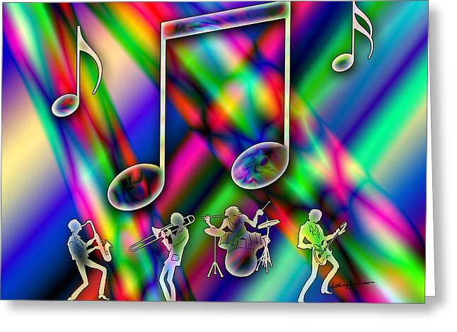 Chromatic Digital Greeting Cards - Music Greeting Card by Anthony Caruso