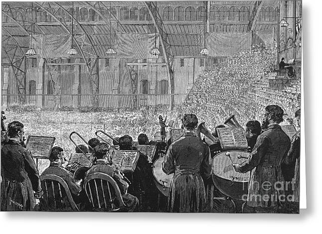 Music Stand Greeting Cards - Music Festival, 1881 Greeting Card by Granger
