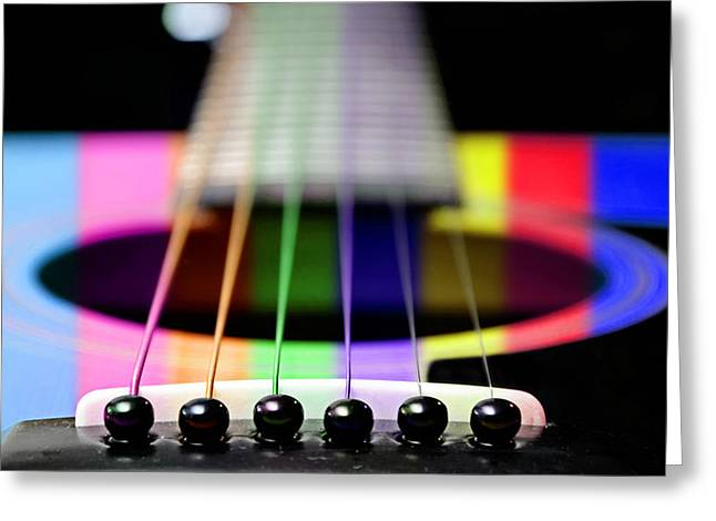 Music Is A Rainbow To The Heart Greeting Card by Andee Design